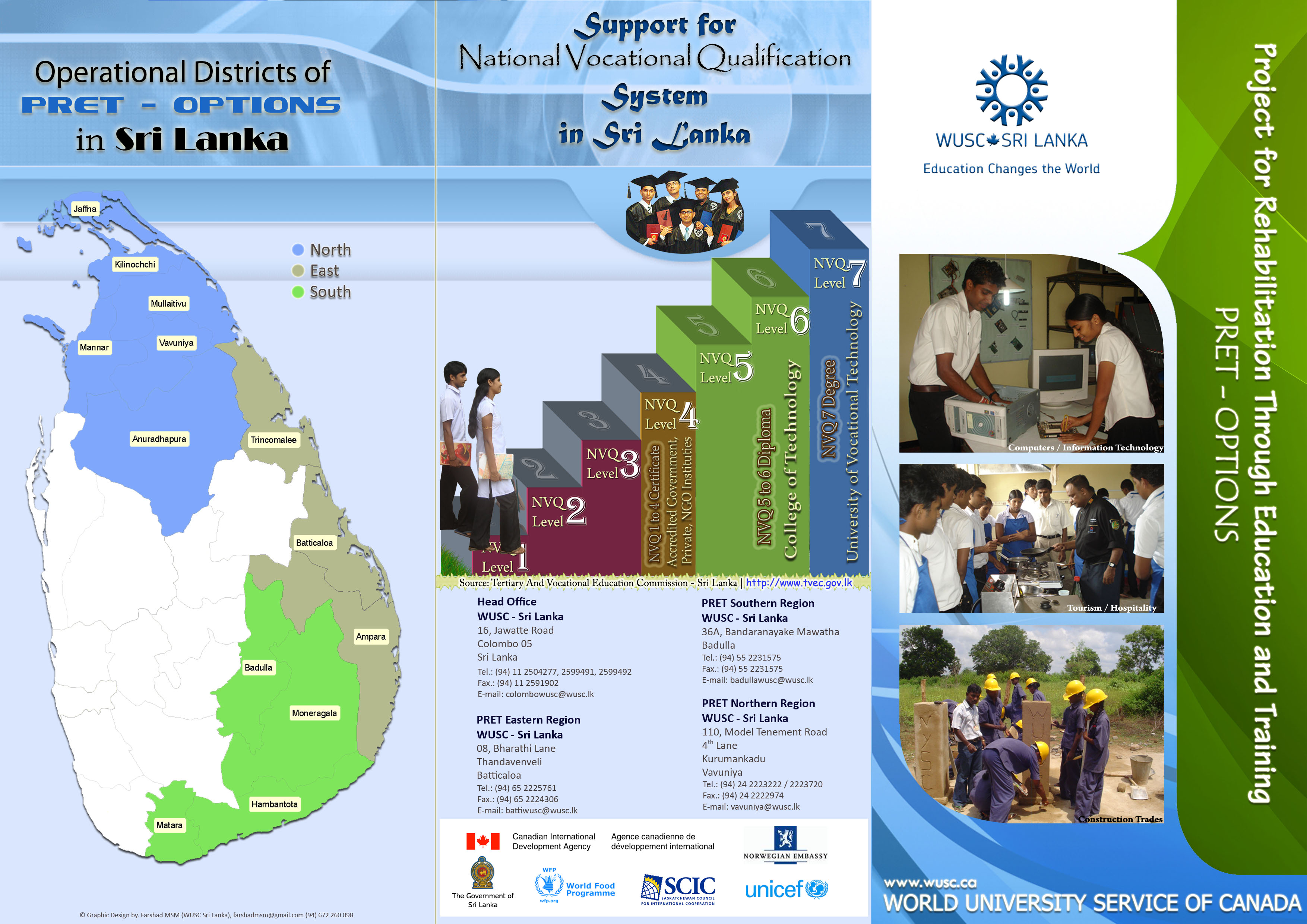 world university service of training youth for employment pret o pamphlet