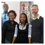Kenny Doren with the WUSC Botswana team