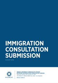 Immigration Consultation Submission Cover