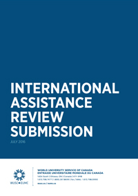 International Assistance Review Submission Cover